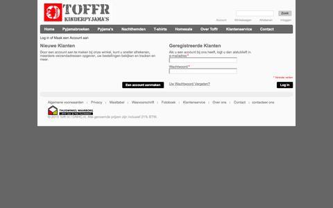 Screenshot of Login Page toffr.nl - Klant Login  - Toffr.nl - captured Sept. 30, 2014