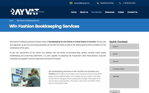 Win Fashion Bookkeeping Services - Rayvat Accounting