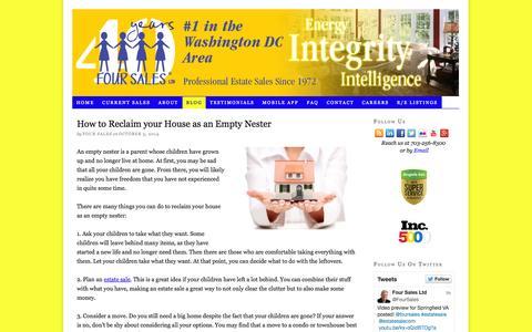 Screenshot of Blog foursales.com - Blog | Four Sales - captured Oct. 6, 2014