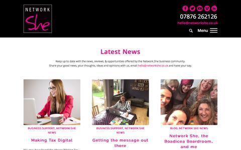 Screenshot of Press Page networkshe.co.uk - News - Network She - captured Nov. 12, 2017