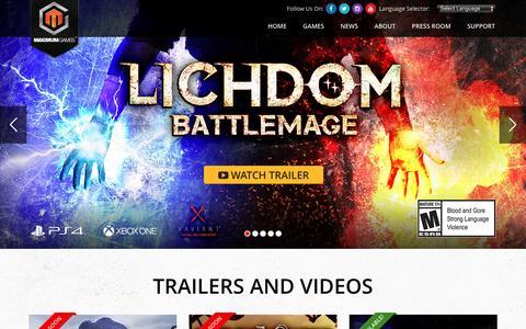 Screenshot of Home Page maximumgames.com - Top Games Online at Maximum Games Online Game Publisher - captured June 9, 2016