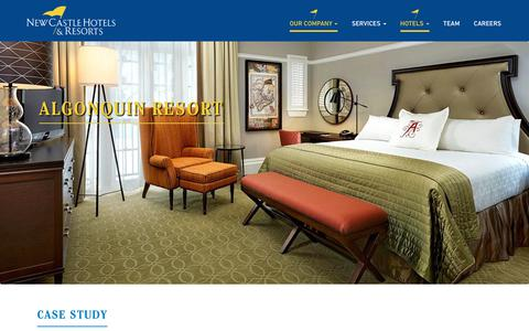 Screenshot of Case Studies Page newcastlehotels.com - Hotel Acquisition & Development | New Castle Hotels & Resorts - captured Oct. 20, 2018