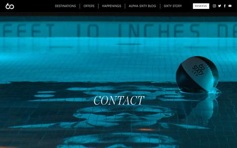 Screenshot of Contact Page sixtyhotels.com - Contact Us & General Inquiries | SIXTY Hotels - captured Dec. 13, 2019