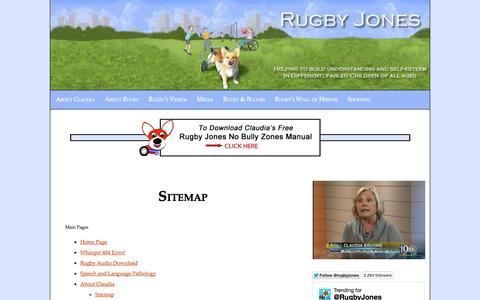 Screenshot of Site Map Page rugbyjones.com - Sitemap - Rugby Jones to the Rescue! - captured Oct. 6, 2014