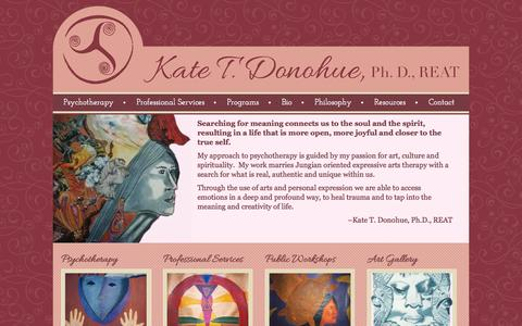 Screenshot of Home Page kate-donohue.com - Home | Kate Donohue Psychotherapy San Francisco - captured Oct. 9, 2015