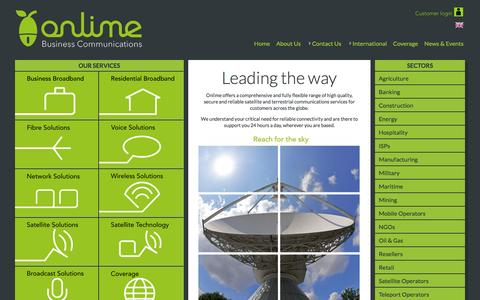Screenshot of Home Page limeline.sl - Onlime Sierra Leone the new name for Limeline - captured Oct. 2, 2014