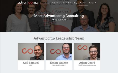 Screenshot of Team Page advantcomp.com - Advantcomp Consulting - Our Team - captured Oct. 7, 2017