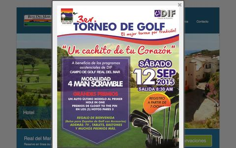 Screenshot of Home Page realdelmargolfresort.com - Real del Mar | Golf Resort and Spa - captured Aug. 31, 2015