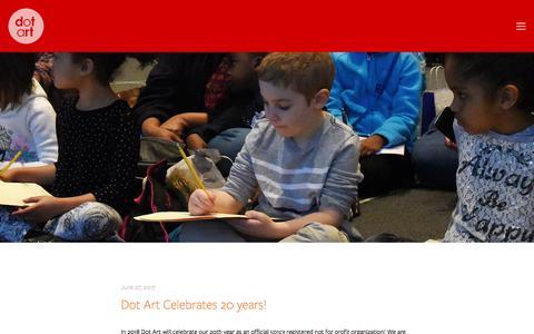 Screenshot of Press Page dotart.org - News — Dot Art - captured Aug. 9, 2018