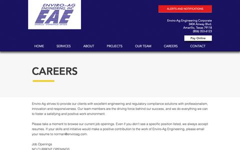 Screenshot of Jobs Page enviroag.com - Enviro-Ag Engineering   Design Compliance Sustainability   Careers - captured Sept. 28, 2018