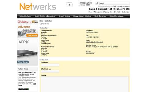 Screenshot of Contact Page netwerking.co.uk - Contact Us - captured Oct. 27, 2014