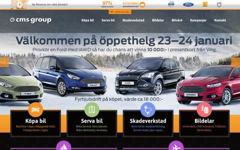 Screenshot of Home Page cmsgroup.se - CMS Group - Din Volvo, Renault och Fordhandlare i Göteborg - captured Jan. 23, 2016