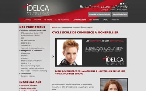 Screenshot of Team Page idelca.fr - Ecole de commerce à Montpellier : IDELCA Business School - captured Oct. 1, 2018