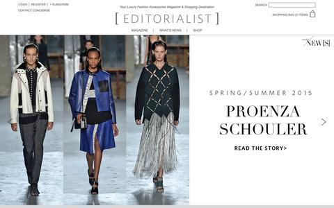 Screenshot of Home Page editorialist.com - Editorialist | Luxury Fashion Accessories Magazine & Online Store - captured Sept. 17, 2014