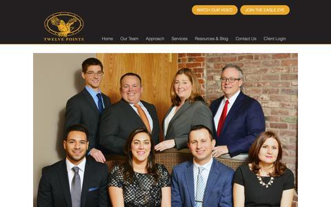 Screenshot of Team Page twelvepointswealth.com - Our Family - Twelve Points Wealth - captured Dec. 6, 2016