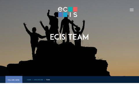 Screenshot of Team Page ecis.org - Team - Educational Collaborative for International Schools (ECIS) - captured Sept. 29, 2018