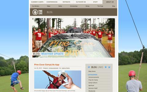 Screenshot of Blog pinecove.com - Pine Cove Blog - captured July 3, 2015