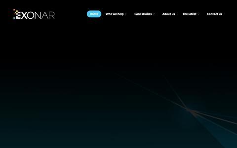 Screenshot of Home Page exonar.com - Exonar - captured Dec. 12, 2015