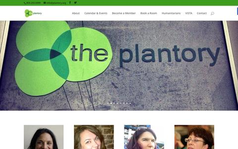 Screenshot of Home Page plantory.org - The Plantory – where good grows - captured Feb. 15, 2016