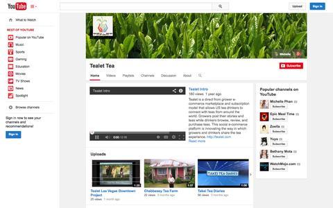 Screenshot of YouTube Page youtube.com - Tealet Tea  - YouTube - captured Oct. 22, 2014