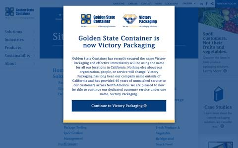 Screenshot of Site Map Page goldenstatecontainer.com - Sitemap - captured May 21, 2017