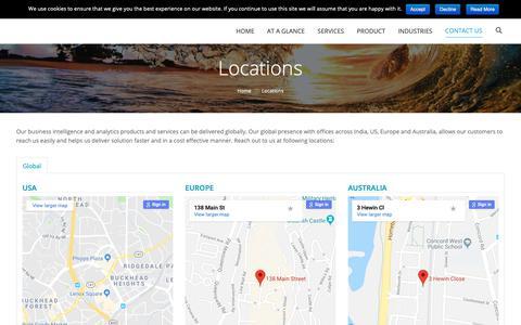 Screenshot of Locations Page bizacuity.com - BizAcuity | Global Locations - captured Oct. 6, 2018