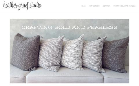 Screenshot of Home Page heathergraefstudio.com - Heather Graef Studio - Hello - captured July 12, 2016