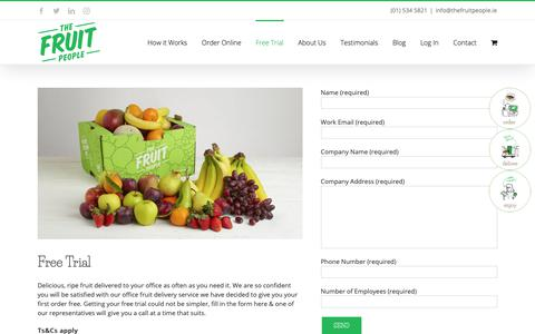 Screenshot of Trial Page thefruitpeople.ie - (2) New Messages! - captured Oct. 20, 2018