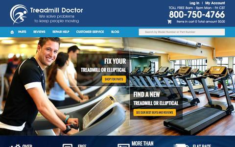 Screenshot of Home Page treadmilldoctor.com - Treadmill | Treadmills | Best Treadmill | Treadmill Doctor - captured Oct. 1, 2015