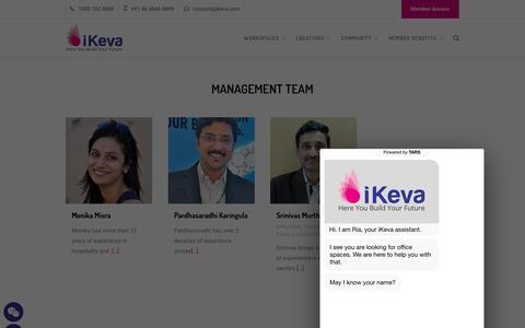 Screenshot of Team Page ikeva.com - Meet The Team - - captured Sept. 20, 2018
