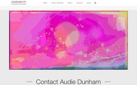 Screenshot of Contact Page adunhamart.com - Contact – ADUNHAM ART - captured May 28, 2017