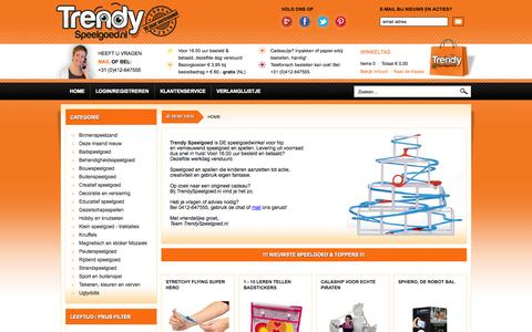 Screenshot of Home Page trendyspeelgoed.nl - Apart en Trendy Speelgoed online - captured Sept. 23, 2014