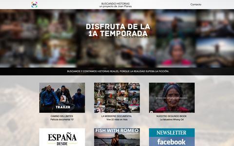 Screenshot of Home Page buscandohistorias.com - Buscando Historias - captured Nov. 6, 2018