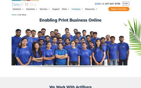 Screenshot of About Page designnbuy.com - Design'N'Buy - Online Design Tool Lab  | Design 'N' Buy - captured June 22, 2019