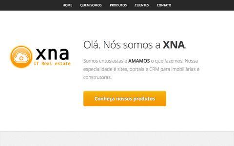 Screenshot of Home Page xna.com.br - XNA IT Real State - Tecnologia para setor imobiliário   Site para imobiliárias, corretores, construtoras. - captured Oct. 4, 2014