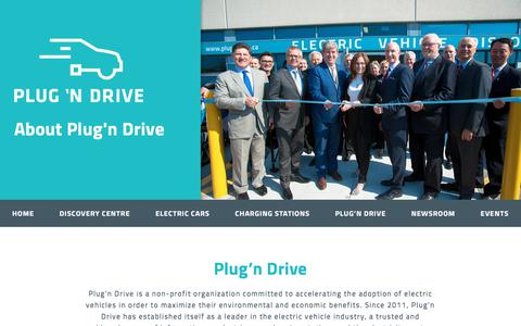 Screenshot of About Page plugndrive.ca - Plug'n Drive – Plug'n Drive - captured July 19, 2018