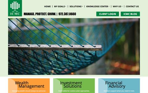 Screenshot of Home Page icmc.com - Dallas Wealth Management Advisors | Financial Advisory - captured Dec. 18, 2015