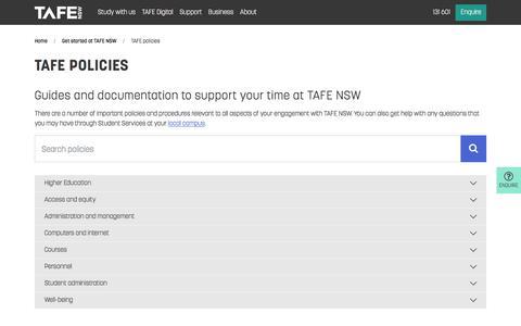 TAFE policies - TAFE NSW