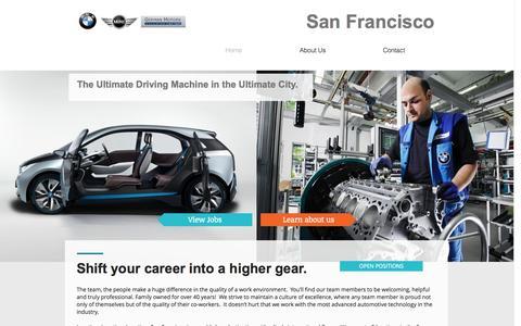 Screenshot of Jobs Page wix.com - germanmotors - captured Nov. 2, 2014