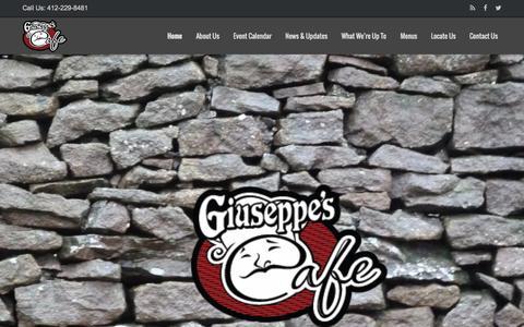 Screenshot of Home Page mygcafe.com - Giuseppe's Cafe | Level Green Trafford Pennsylvania - captured Sept. 19, 2015