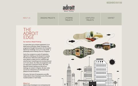 Screenshot of About Page adroiturban.com - Adroit : About Us - captured Nov. 2, 2014