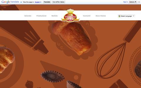 Screenshot of Home Page tedesco.it - Fratelli Tedesco - semilavorati in pasticceria: cannoli, baba e altre delizie - captured Oct. 3, 2014
