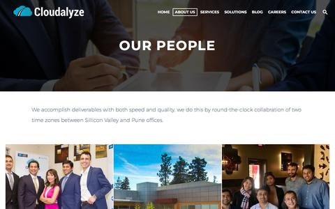 Screenshot of Team Page cloudalyze.com - Meet our Salesforce Certified Experts and Developers | Cloudalyze Team - captured July 19, 2018