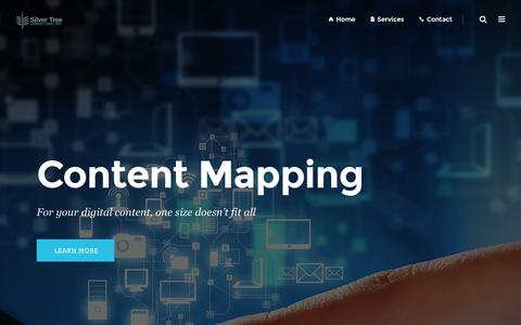 Screenshot of Home Page silvertreeconsulting.com - Silver Tree Consulting Inc. – Content Mapping - captured Nov. 29, 2016