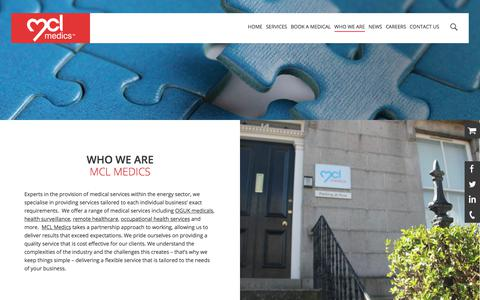 Screenshot of About Page mcl-medics.com - About Us | Who We Are | MCL Medics - captured July 26, 2018