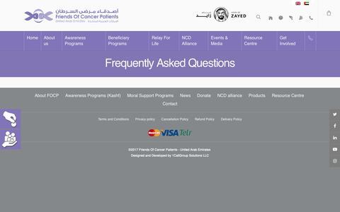 Screenshot of FAQ Page focp.ae - FAQ – FOCP - captured Oct. 11, 2018