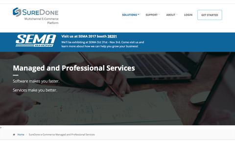 Screenshot of Services Page suredone.com - SureDone e-Commerce Managed and Professional Services | SureDone - captured Oct. 30, 2017