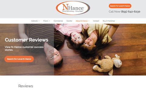 Screenshot of Testimonials Page nhance.com - Reviews | N-HanceN-Hance - captured Oct. 18, 2018