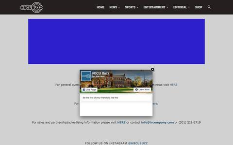 Screenshot of Contact Page hbcubuzz.com - Contact Us   HBCU Buzz - captured Sept. 22, 2018