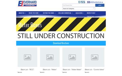 Screenshot of everhard.com.au - Meter Boxes Archives - Everhard - captured April 13, 2016